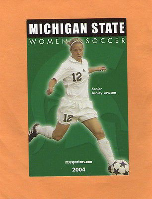 2004 NCAA WOMEN'S SOCCER MICHIGAN STATE UNIVERSITY GAME POCKET  SCHEDULE