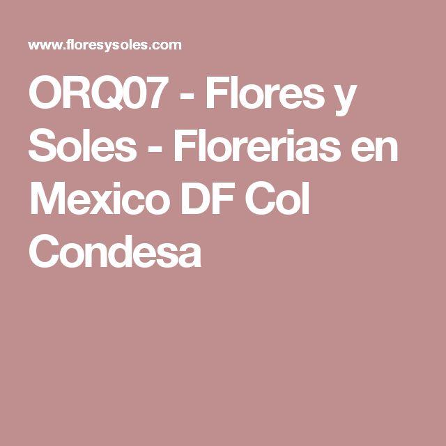 ORQ07 - Flores y Soles - Florerias en Mexico DF Col Condesa