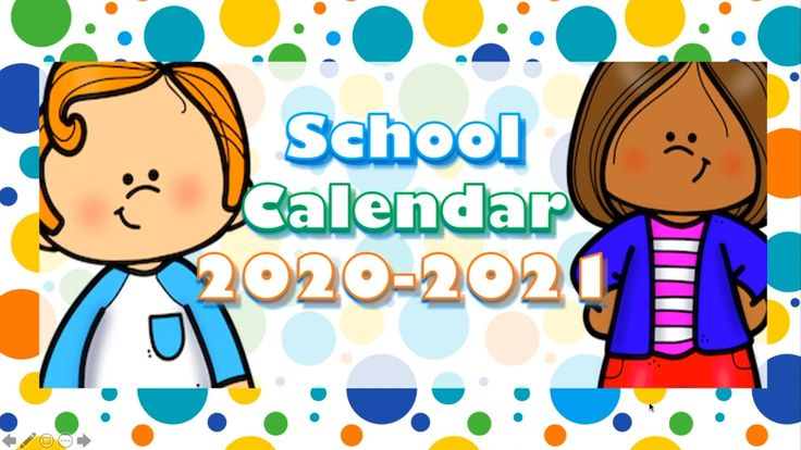 School Year Calendar 20202021 [Video] in 2020 School
