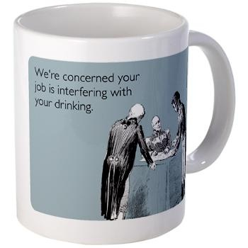 Job Interfering With Drinking Mug #WildWingCafe