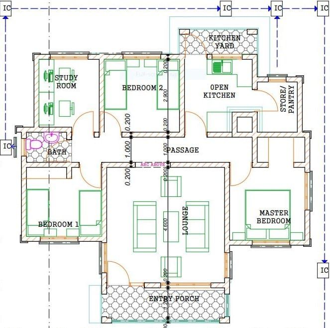 3 Bedroom Design 1255 B Cheap House Plans Bungalow Floor Plans Small House Design Plans
