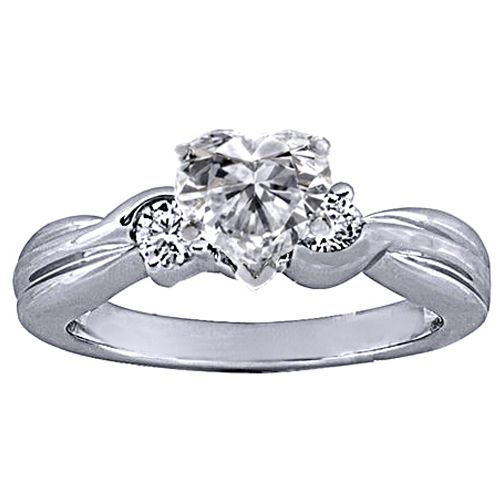 Heart Shaped Diamond Wedding Rings My Style Pinterest