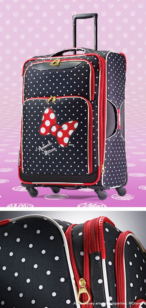 """Minnie Mouse Spinner Softside Red Bow 21"""" and 28"""" by American Tourister: The official luggage of Walt Disney World Resort and Disneyland"""