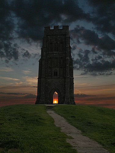 .Glastonbury Tor - we climbed the hill at sunset and there were 2 boys in the Tor singing songs. It was magical.