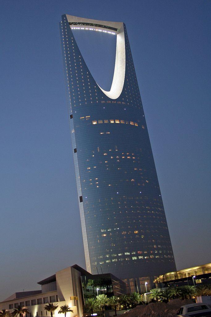 Kingdom Tower in Riyadh, Saudi Arabia. photo: Richard Messenger