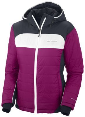 Columbia Shimmer Flash with #OmniHeat - a cute puffy jacket with thumbholes and hood! #omniten #tryingstuff