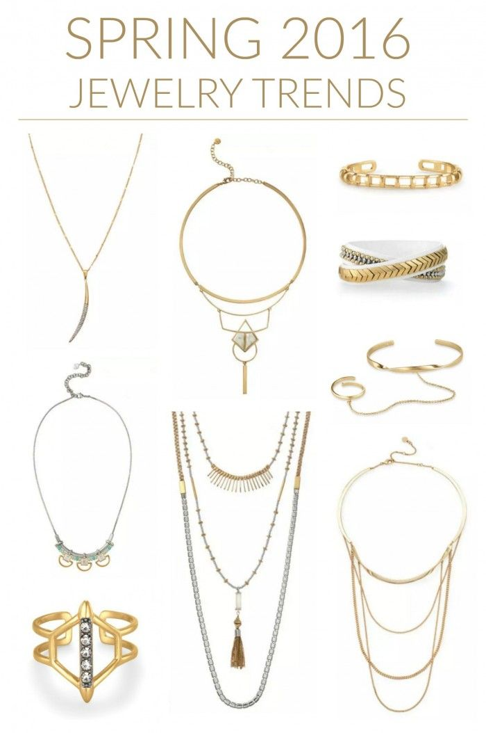 Spring 2016 Jewelry Trends: Delicate, layered looks are hot this spring! While delicate styles are coming back, the layered trend is still huge. Even better, many pieces are already grouped for you, which takes the guesswork out of layering. I struggle with putting things together, so I'm thrilled to have it done for me.