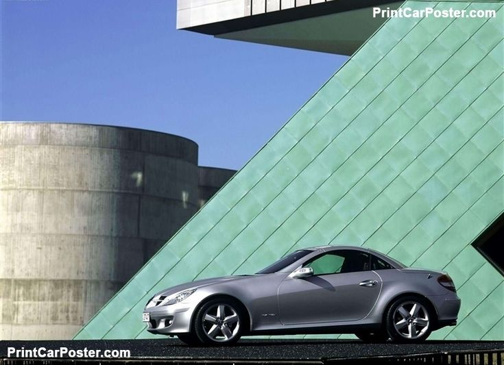 Mercedes-Benz SLK200 Kompressor 2005 poster, #poster, #mousepad, #tshirt, #printcarposter