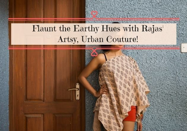 Flaunt the Earthy Hues with Rajas' Artsy, Urban Couture.  #Fashion #Clothing #IndoWestern #Frocks #Rajas #Bengaluru