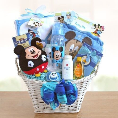 Baby Boy Gifts Newcastle : Mickey mouse baby boy gift basket