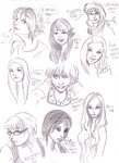 Face study doodles 01 by ~ahowa on deviantART