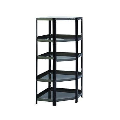 Craftsman -Corner Steel Shelving Unit - Black/Platinum