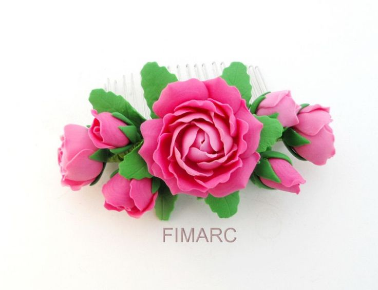 Pieptene cu Trandafiri roz prafuit
