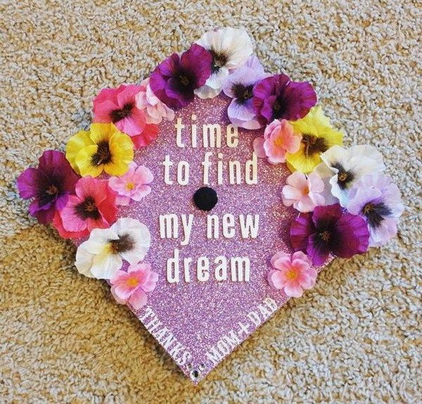 The Time To Find My New Dream Grad Cap With Flowers