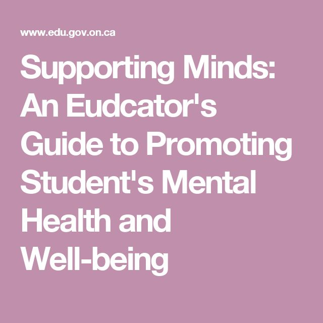 Supporting Minds: An Eudcator's Guide to Promoting Student's Mental Health and Well-being