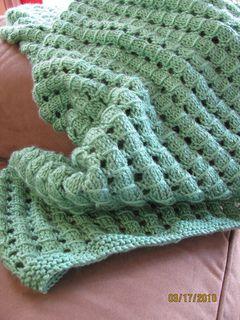 waffle baby blanket / ravelry