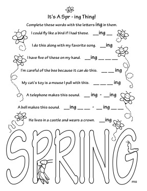 spring activity coloring pages - Coloring Activity Pages