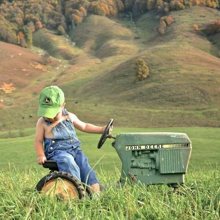 Hard workin' little farmer....