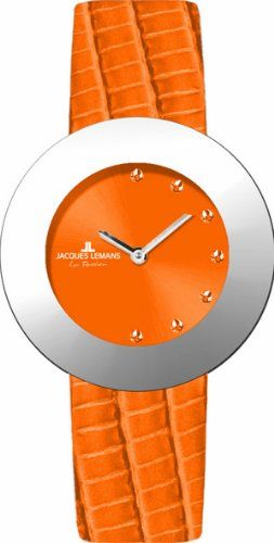 Jacques Lemans – 1-1309D – Montre Femme – Quartz – Analogique – Bracelet en cuir orange   Montres