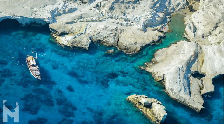 Sarakiniko beach, Milos Island, also known as the moon beach, is shaped by volcanic and water erosion, leaving a lunar impression in the mind. The contrast between the smooth white rocks and the blue waters is heightened by the sun and moon's reflection on the rocks. Don't miss out on a chance to see the unique rock, cliff and cave formations as well as the man-made tunnels. Let us Mentor you! #MentorinGreece Photo Credit: Gary Parisis
