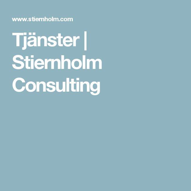Tjänster | Stiernholm Consulting