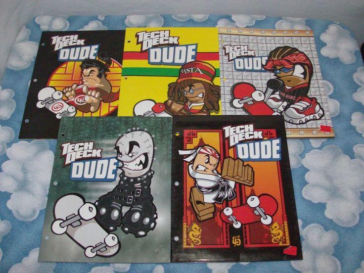 Teck Deck Dudes Teck Tech New Vintage Series Rare 5, 3 Ring Binder Folders Rare #XConcepts FREE SHIPPING!!!