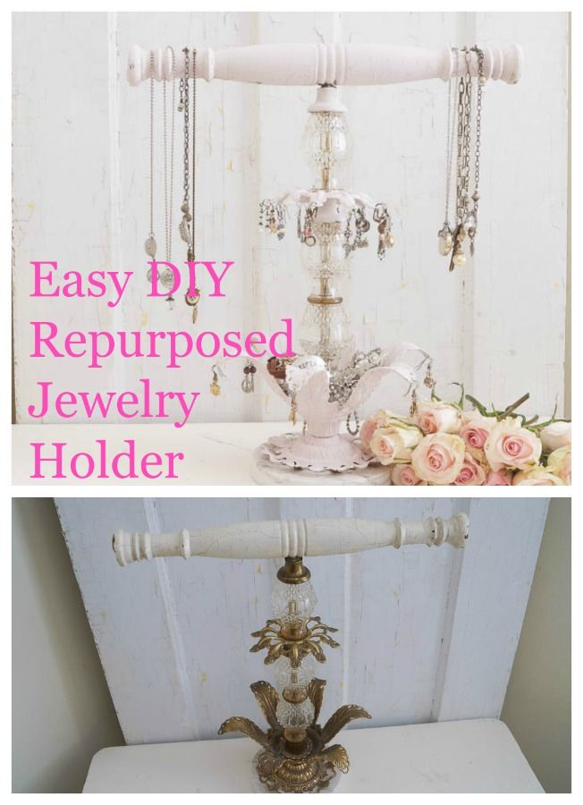 304 best repurpose anything images on pinterest cabinet for Repurposed jewelry holder