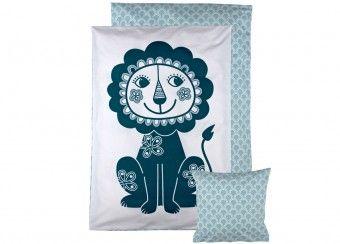 1-persoons beddengoed SoulMate 'lion' Roommate | kinderen-shop Kleine Zebra