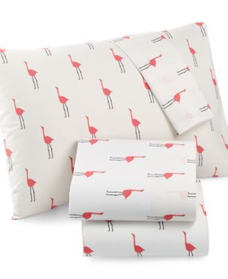 Whim by Martha Stewart Collection Print Cotton Percale Queen Sheet Set, Only at Macy's