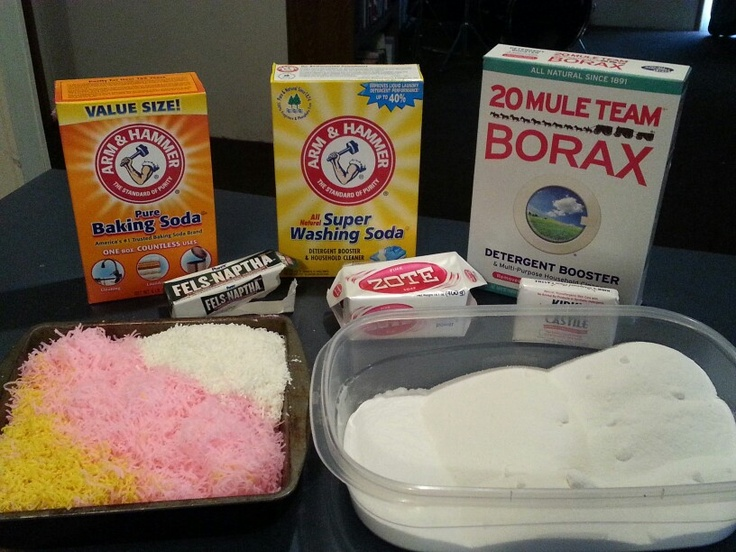 ★ Amazing DIY Laundry Detergent ★ Works wonderful in any temperature water! 1 bar Fels-Naptha, 1 bar Zote (I prefer pink!), 1 bar Castile soap, (grate them all very fine), 1 cup baking soda, 3 cups Borax and 3 cups Washing Soda. Mix everything together thoroughly!!! This takes about 5 minutes. I grab handfuls and rub it between my hands to break everything up even more. Put in a large container. I use a 1/8 c. scoop per load in my non-HE large capacity washer. You may have to adjust for…