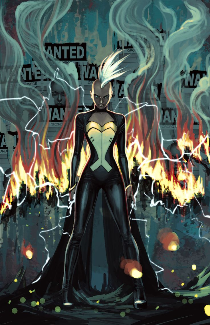 """stephanie-hans: """"And here is the cover for Storm#8 I hardened her a bit for this one. """""""