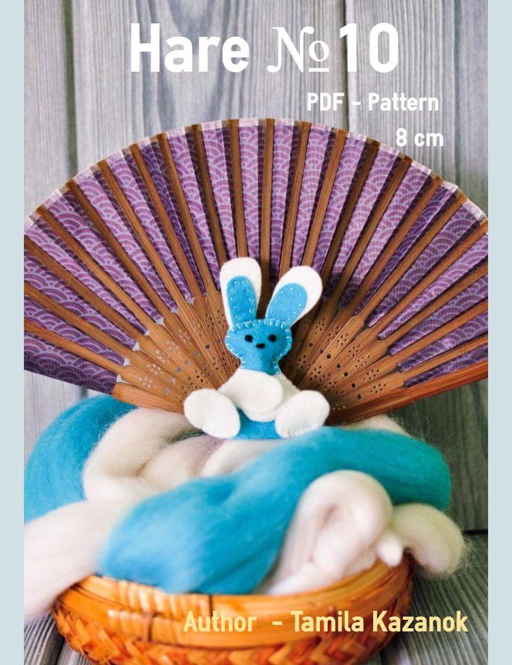 Bunny Instant Download Easy Sewing PDF Pattern/ Felt Bunny Keychain/ Bunny Finger Toy/ Stuffed Toy Animal Bunny Softie by Tamilashki on Etsy