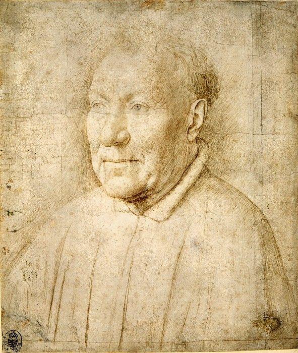Портрет кардинала Альбергати. Ян ван Эйк