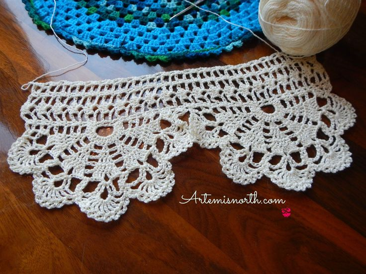 Free Crochet Pattern: Wide Economy Edging. Create luxury for your sheets and…