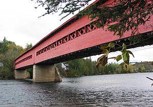The Wakefield Covered Bridge  Quebec, Canada