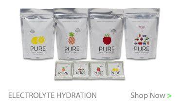 Electrolyte hydration drink range