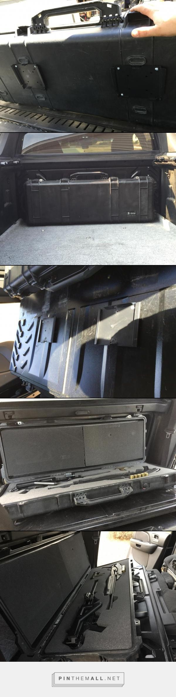 2007 Z71 Chevy Avalanche, pelican gun case hidden mount behind rear access door to cargo area. - created via http://pinthemall.net