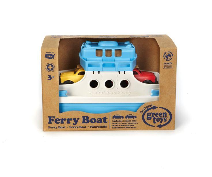 Amazon.com: Green Toys Ferry Boat with Mini Cars Bathtub Toy, Blue/White: Toys & Games
