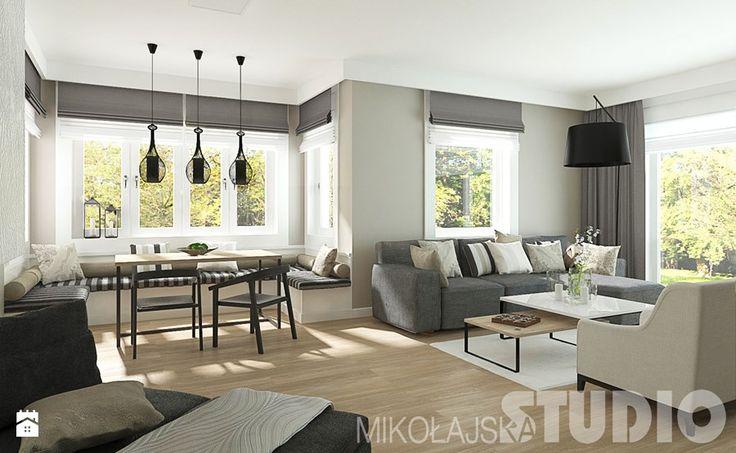 Salon w stylu skandynawskim - zdjęcie od MIKOŁAJSKAstudio