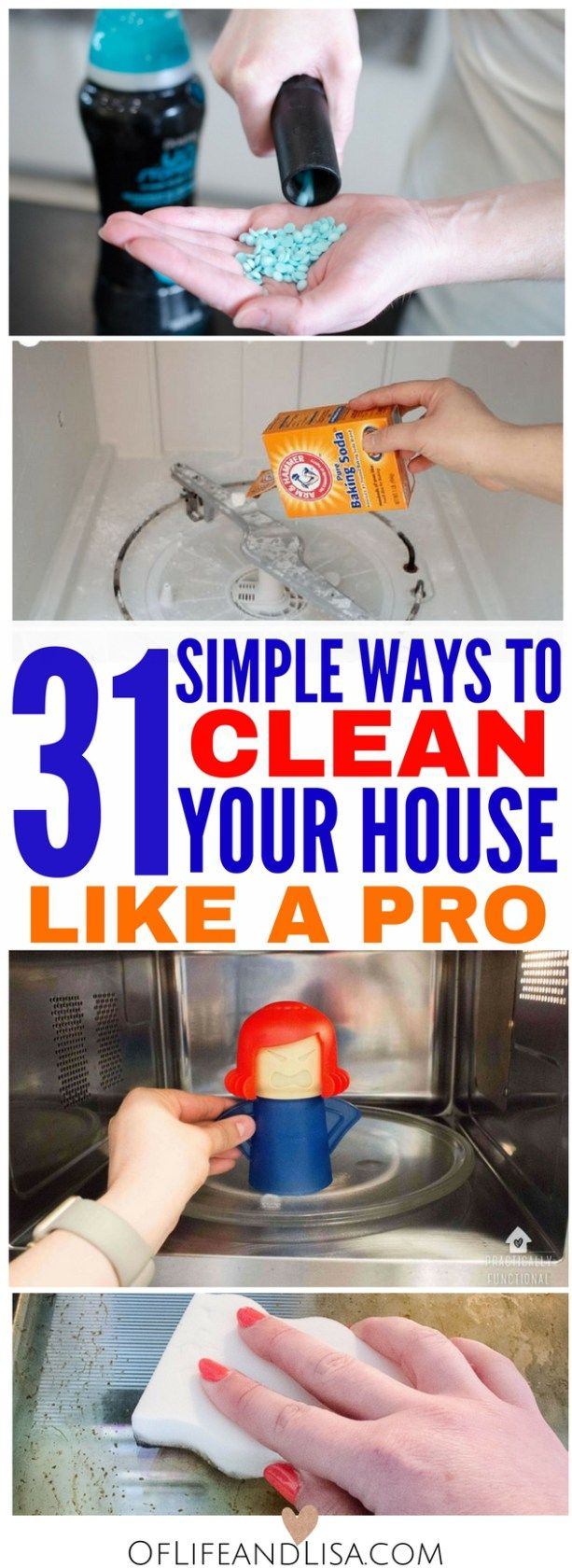 Clean your house from top to bottom like a pro. Check out this post to see 31 House Cleaning Tips.