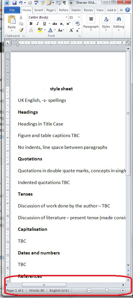 I was innocently using Word one day when I discovered that my horizontal scroll bar had disappeared. This was annoying, because I had a document open at the time at the side of another document, an...