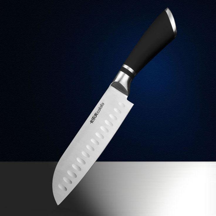 Envío Libre MIKALA Cocina de Acero Inoxidable de Estilo Japonés Cuchillo Cocinero Santoku Cuchillo de Corte de Carne de la Fruta Vegetales Cuchillos Cleaver
