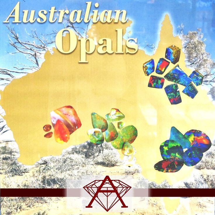 Australian Opal Mine Locations.