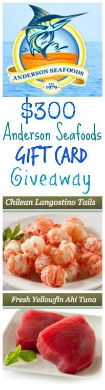 $300 #giveaway for @andersonseafood overnight seafood delivery service.  I love this company!
