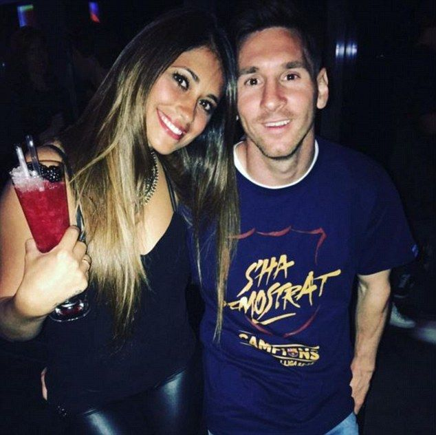 Connection: They have been dating for eight years, seven years after Messi left their home...