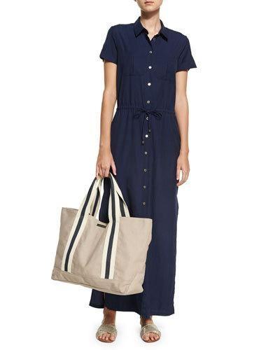 HEIDI KLEIN HAMPTONS MAXI SHIRTDRESS, BLUE. #heidiklein #cloth #