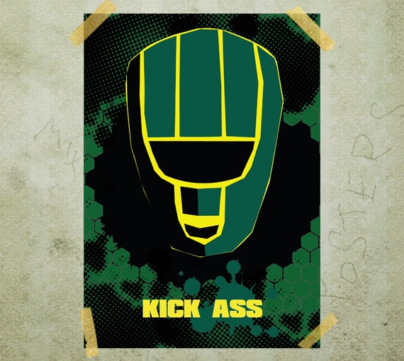 Kick Ass Movie poster print A3 by MixPosters on Etsy, $19.00