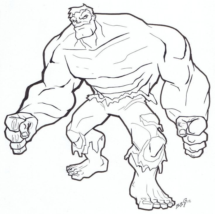 Hulk Coloring Pages Online 895x892