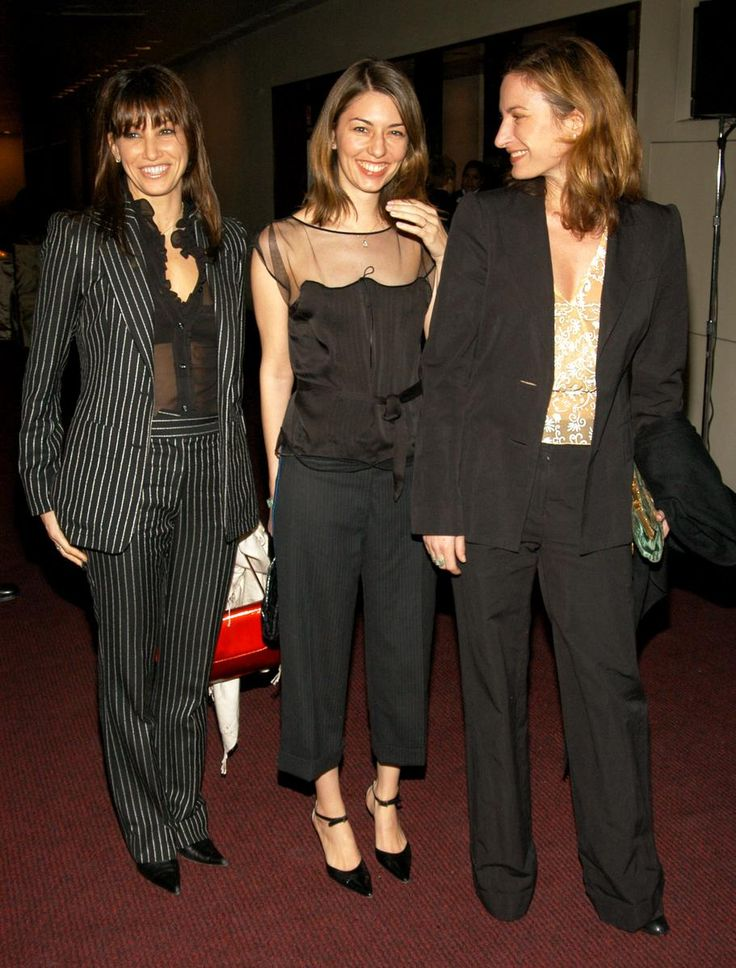 """Sofia Coppola with Gina Gershon and Zoe Cassavetes at """"Rolex Mentor and Protege Arts Initiative,"""" in NYC 2003."""