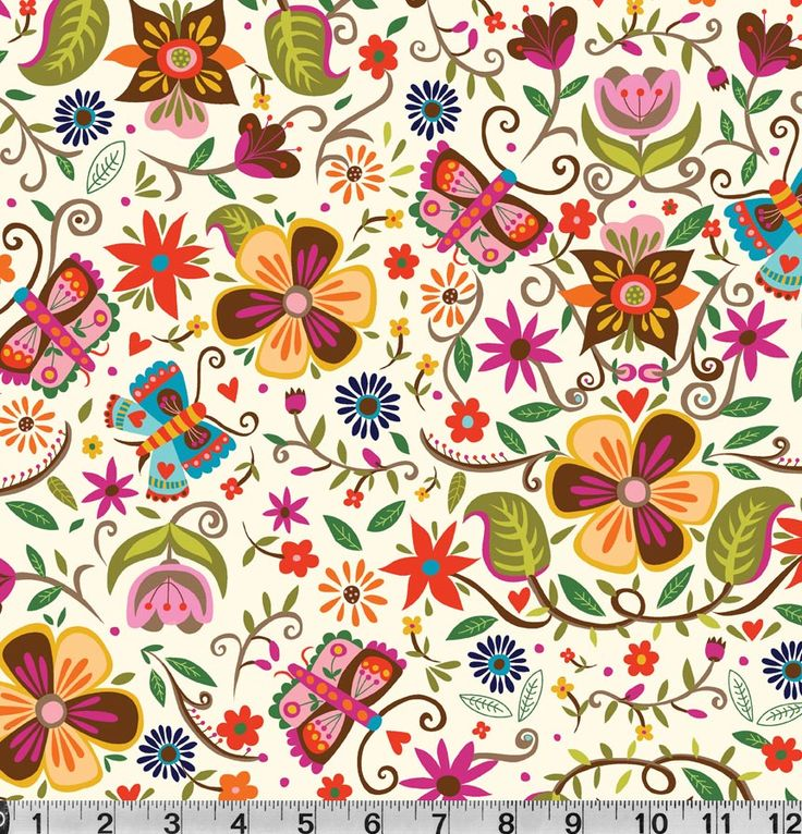 Soul Garden Collection.  Carolyn's new butterfly-based collection is lively and playful, with a very contemporary style. The flowers and butterflies in the main print are supported with a tossed butterfly secondary print. A tossed floral, a tonal, a ditsy and a stripe all liven the look. With modern colors and prints, this collection appeals to young and old alike.